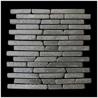 Mozaika z andezitu Parquet Black Candi Alur Style 1 m2