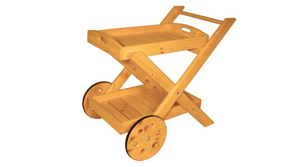 Skládací servírovací vozík – s povrchovou úpravou