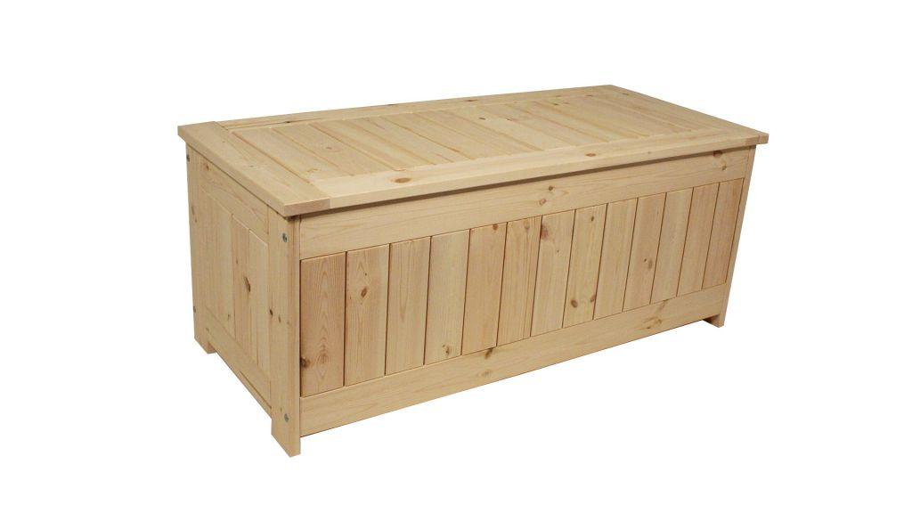 Zahradní úložný box bez povrchové úpravy -  134 x 59 cm
