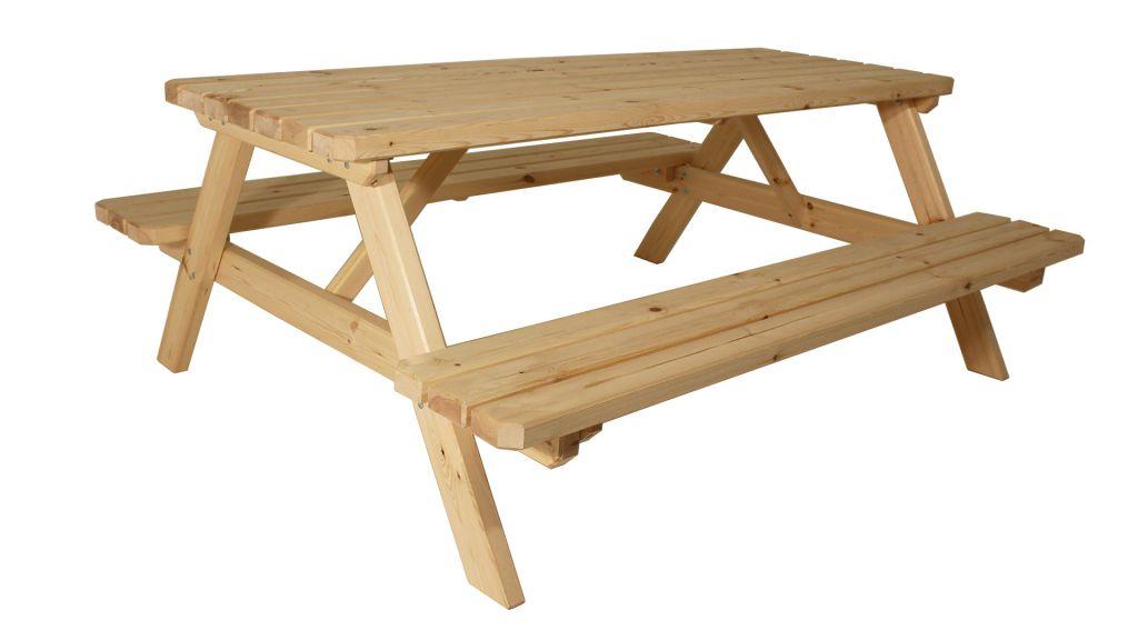 Zahradní set piknik – bez povrchové úpravy – 200 cm