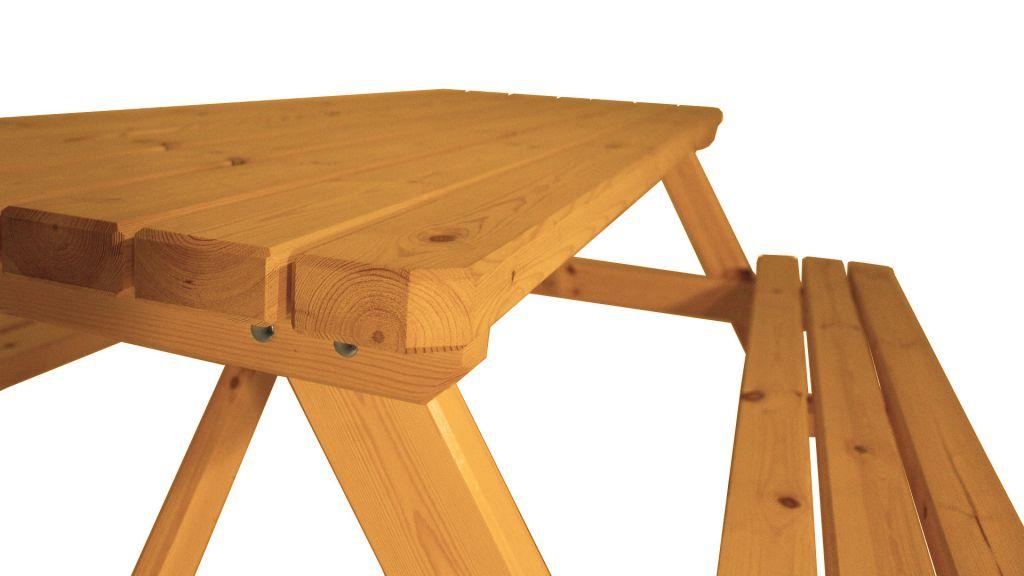 Zahradní set piknik - s povrchovou úpravou - 200 cm - STARÝ OŘECH