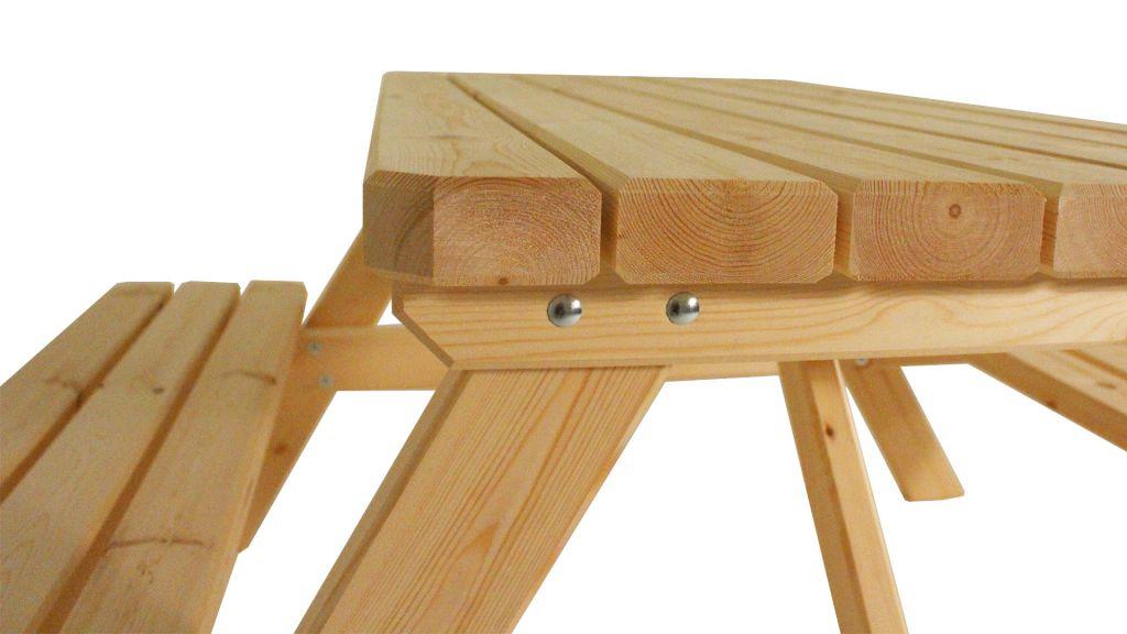 Zahradní set piknik - bez povrchové úpravy - 150 cm