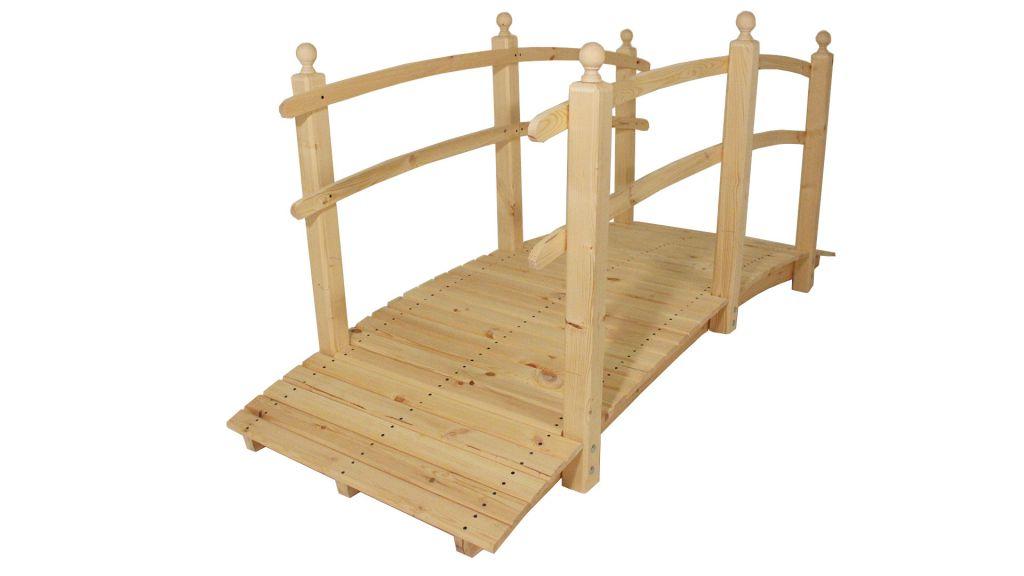 Zahradní dřevěný most bez povrchové úpravy - 248 cm