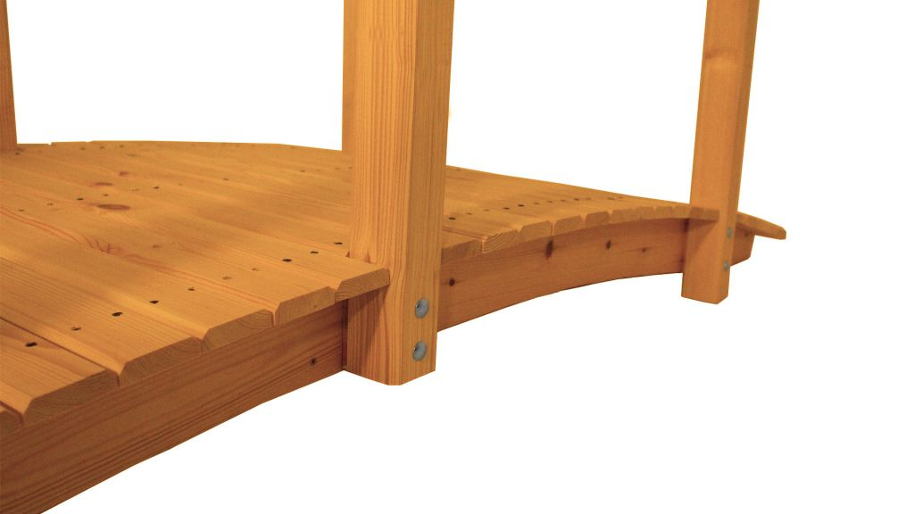 Zahradní dřevěný most s povrchovou úpravou - 248 cm