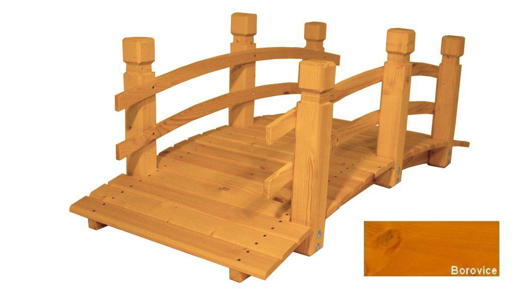 Zahradní dřevěný most - BOROVICE - 149 cm