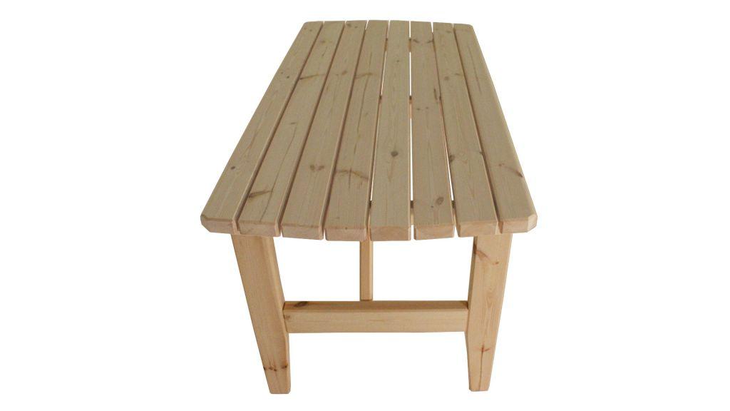 Zahradní dřevěný stůl Eduard - bez povrchové úpravy - 160 cm