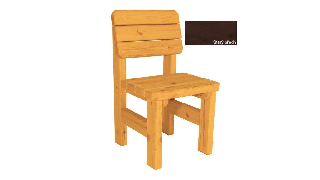 Zahradní dřevěná židle II. - s povrchovou úpravou Gaboni TP55480