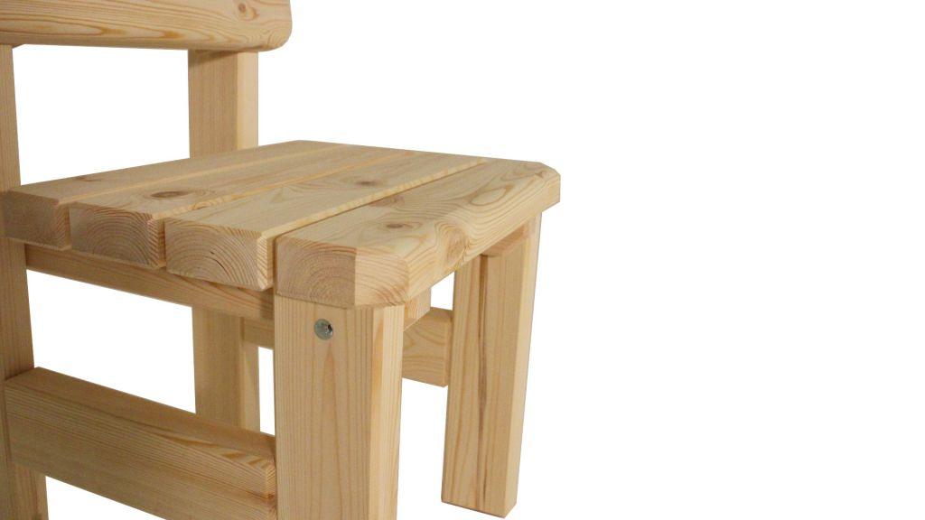 Zahradní dřevěná židle Darina - bez povrchové úpravy