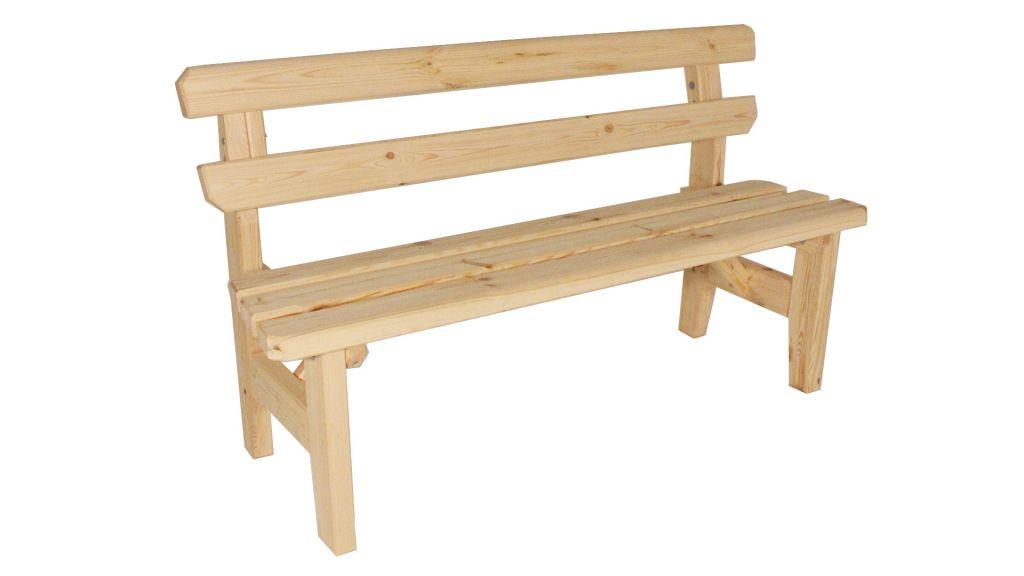Zahradní dřevěná lavice Eduard - bez povrchové úpravy - 150 cm