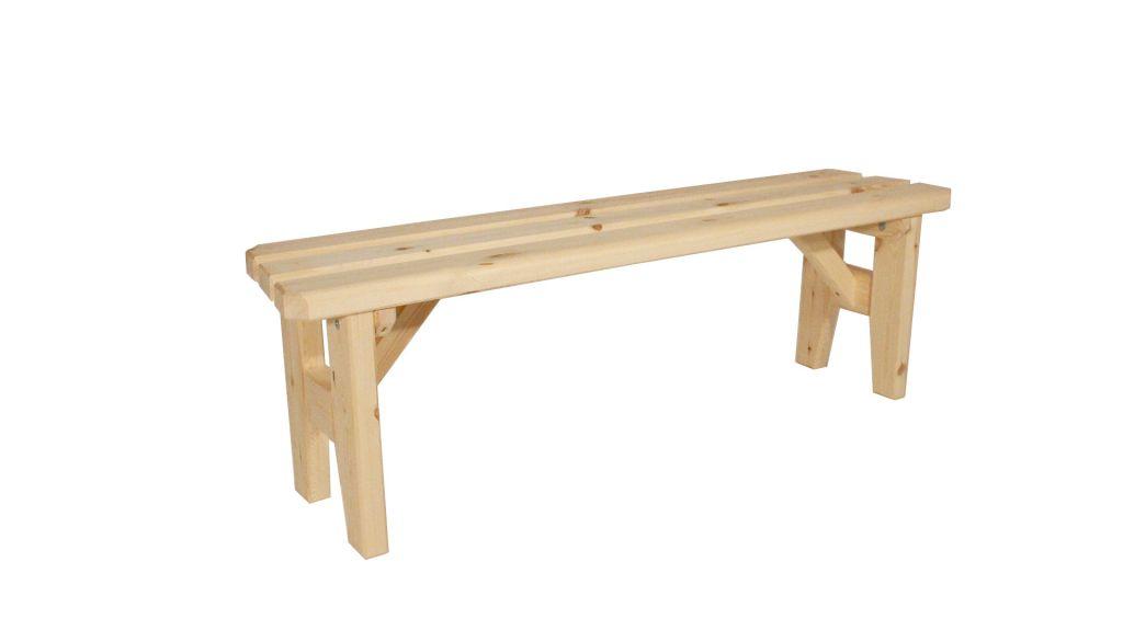 Zahradní dřevěná lavice bez opěradla I: - bez povrchové úpravy - 150 cm Gaboni TP55484