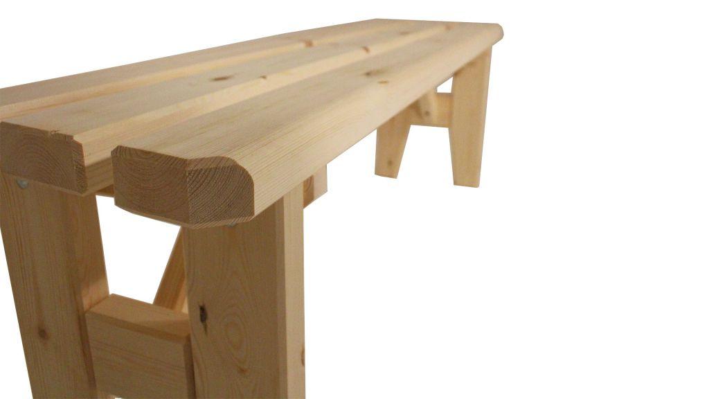 Zahradní dřevěná lavice  bez opěradla Eduard - bez povrchové úpravy - 150 cm