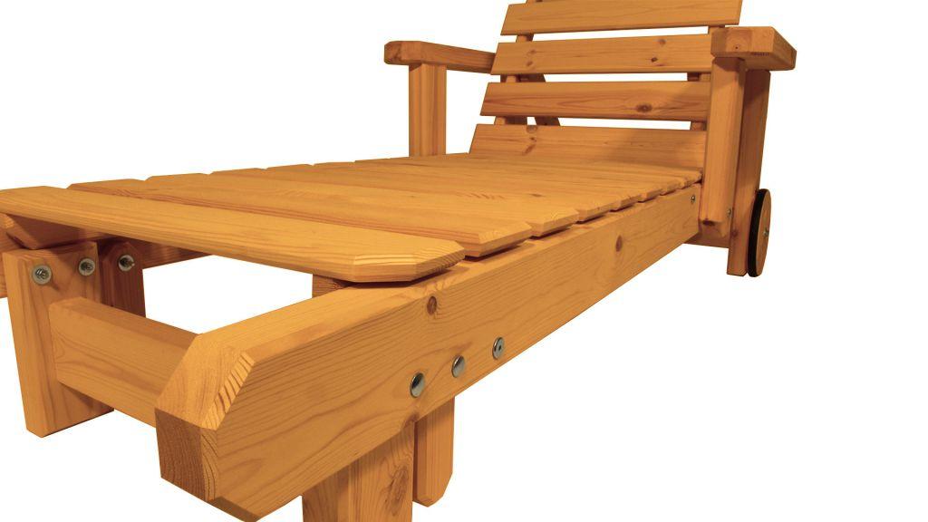 Zahradní dřevěné lehátko - s povrchovou úpravou