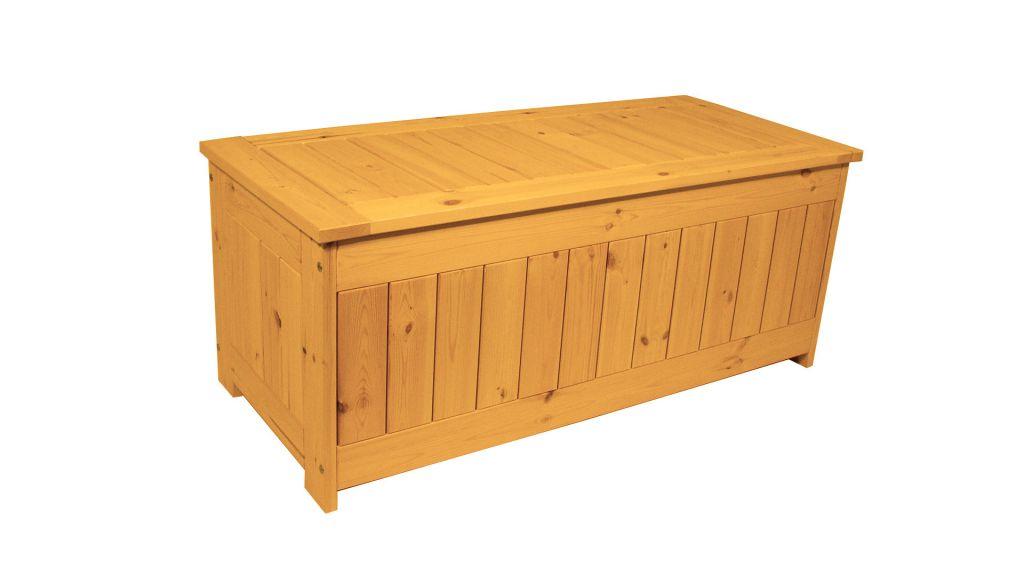 Zahradní úložný box s povrchovou úpravou - 134 x 59 cm