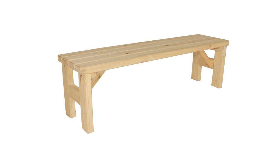 Zahradní dřevěná lavice bez opěradla II. - bez povrchové úpravy - 150 cm Gaboni TP55571