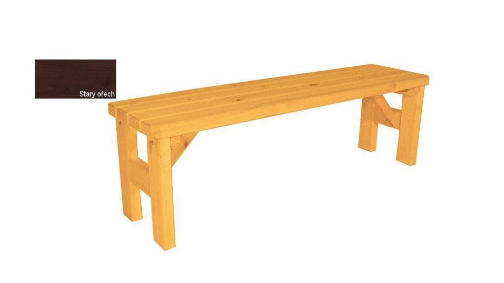Gaboni TP55572 Zahradní dřevěná lavice bez opěradla II. - s povrchovou úpravou - 150 cm