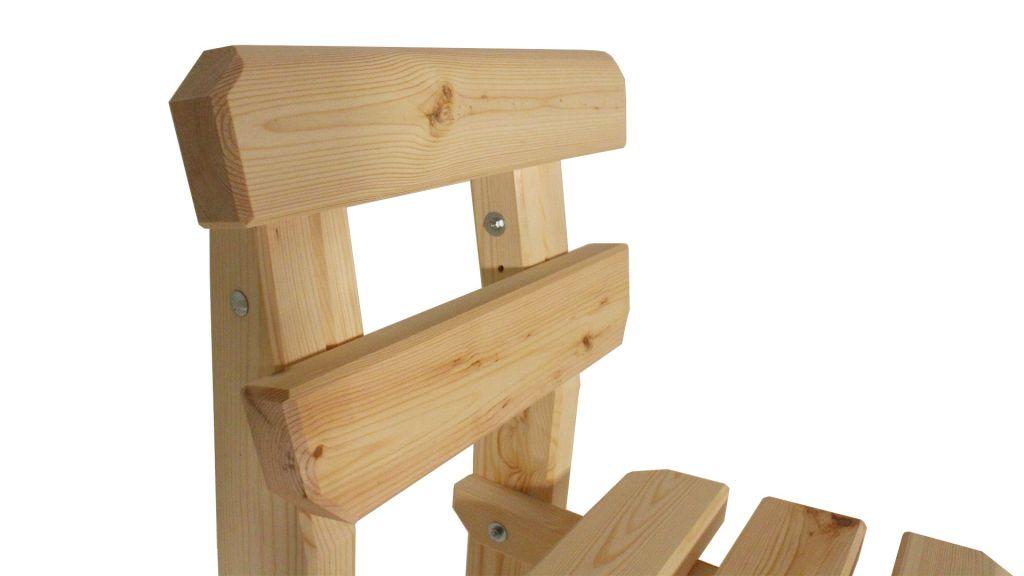 Zahradní dřevěná židle Eduard – bez povrchové úpravy