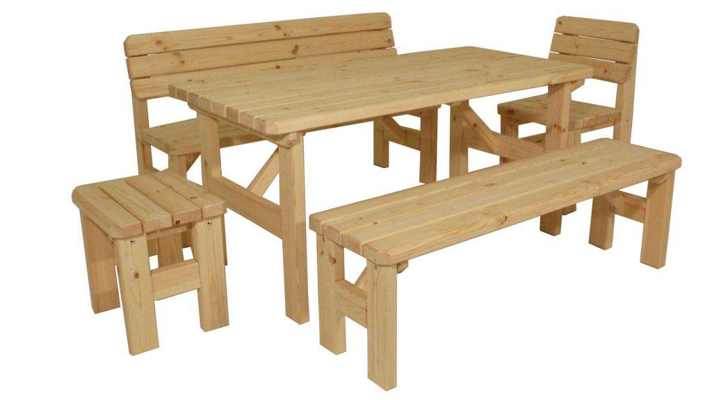 Zahradní dřevěný set II. - bez povrchové úpravy Gaboni TP55577