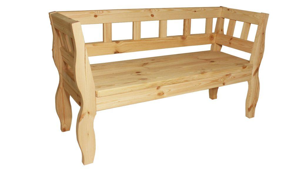 Zahradní RETRO lavice bez povrchové úpravy - 157 cm Gaboni TP55581