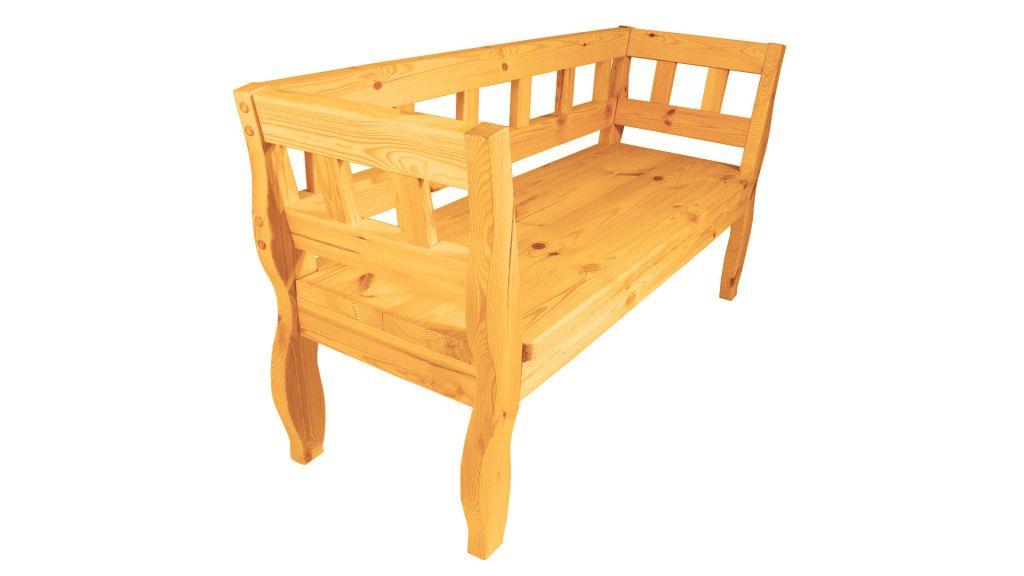 Zahradní RETRO lavice s povrchovou úpravou - 157 cm - STARÝ OŘECH