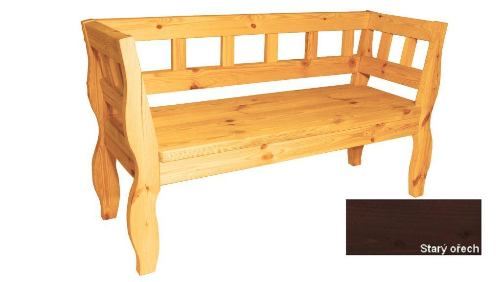 Zahradní RETRO lavice s povrchovou úpravou - 157 cm Gaboni TP55582
