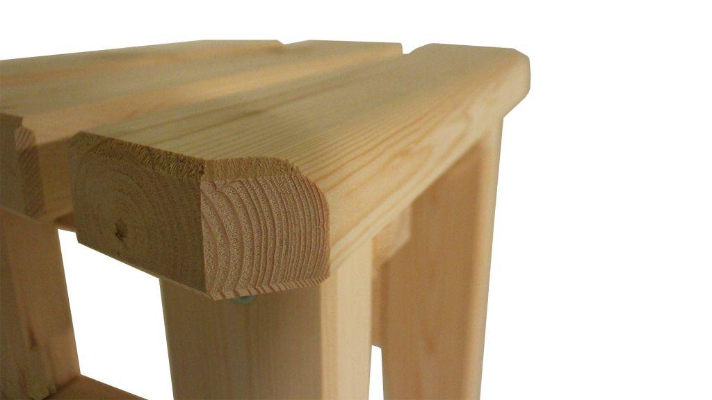 Zahradní dřevěná stolička Eduard - bez povrchové úpravy