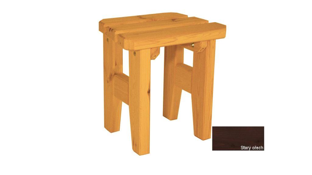 Zahradní dřevěná stolička Eduard - s povrchovou úpravou - STARÝ OŘECH