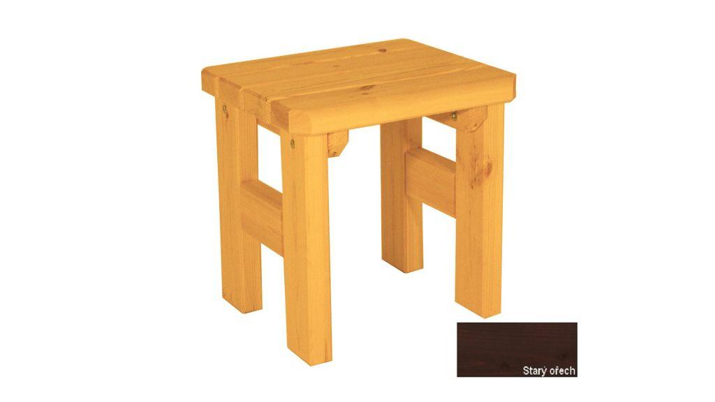 Zahradní dřevěná stolička Darina - s povrchovou úpravou - STARÝ OŘECH