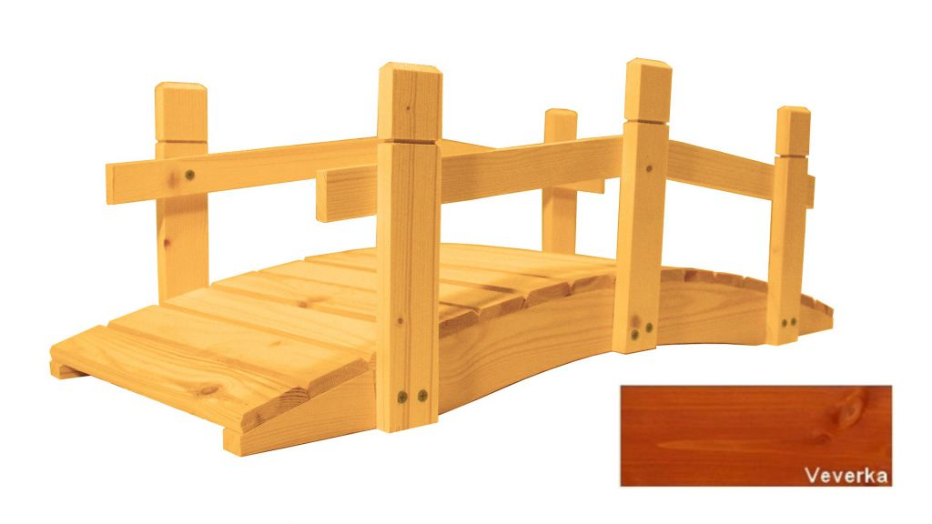 Zahradní dřevěný můstek - 71 cm - VEVERKA