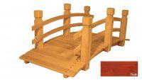 Gaboni Zahradní dřevěný most - TEAK - 149 cm