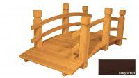 Gaboni Zahradní dřevěný most - STARÝ OŘECH - 149 cm