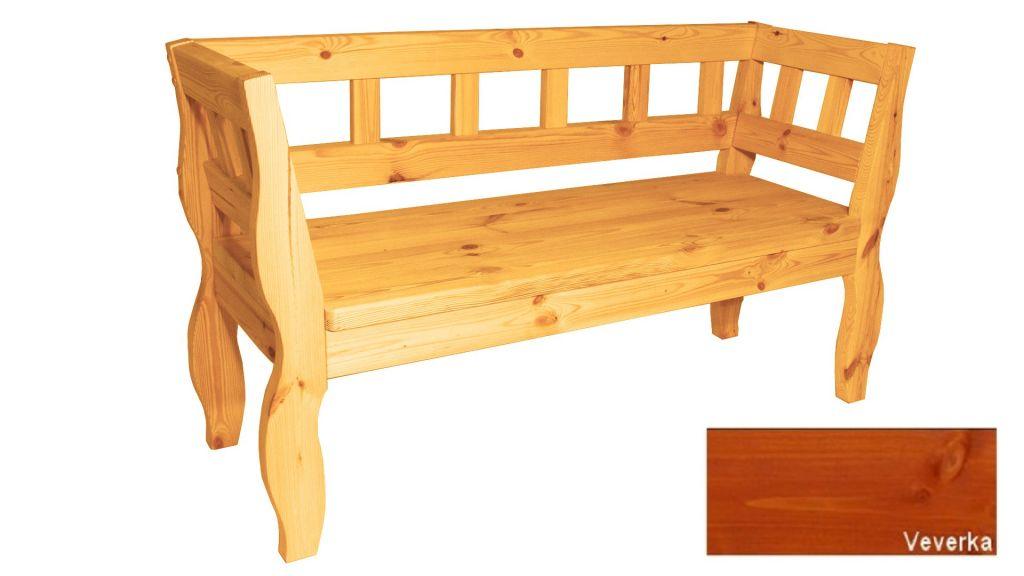 Zahradní RETRO lavice s povrchovou úpravou – 157 cm – VEVERKA