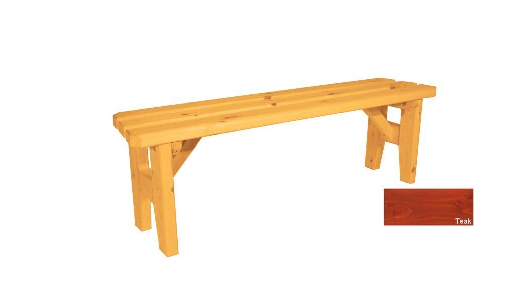 Gaboni Eduard 63152 Zahradní dřevěná lavice bez opěradla - s povrchovou úpravou - 150 cm - TEA