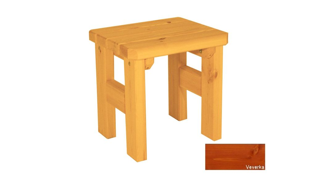 Gaboni Darina 63153 Zahradní dřevěná stolička - s povrchovou úpravou - VEVERKA