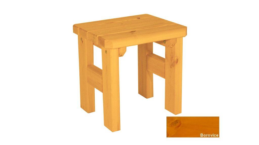 Zahradní dřevěná stolička Darina – s povrchovou úpravou – BOROVICE