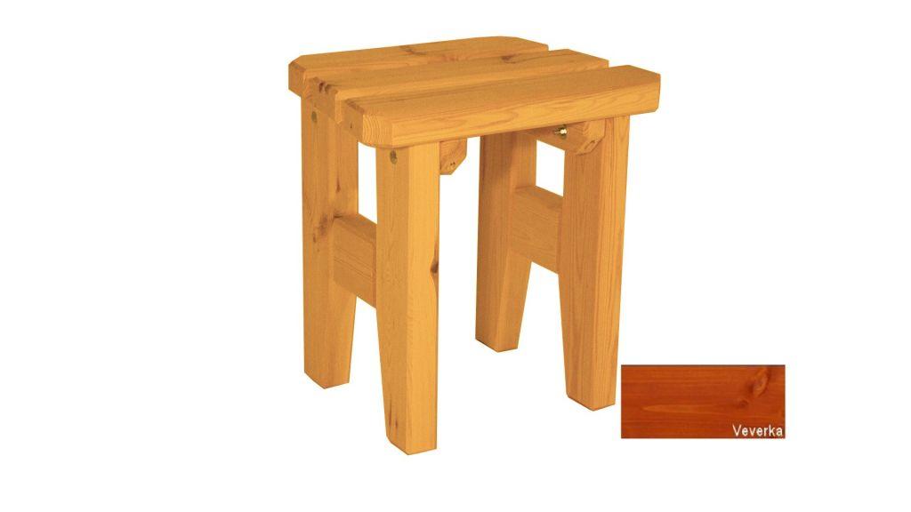 Gaboni Eduard 63162 Zahradní dřevěná stolička - s povrchovou úpravou - VEVERKA