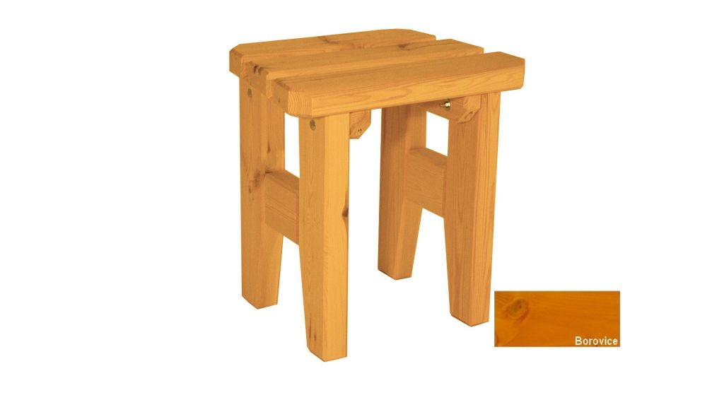 Gaboni Eduard 63163 Zahradní dřevěná stolička - s povrchovou úpravou - BOROVICE