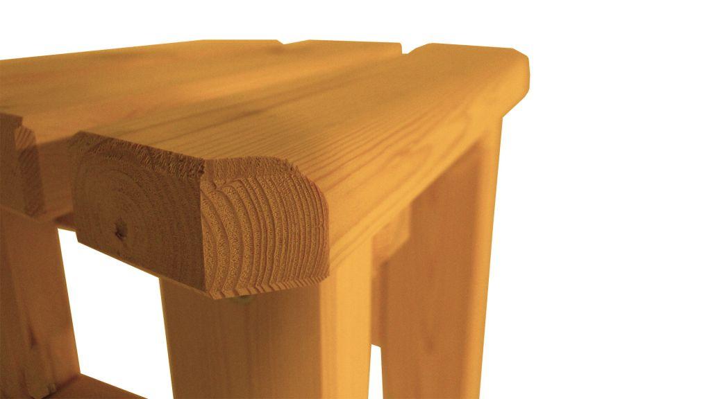 Zahradní dřevěná stolička Eduard – s povrchovou úpravou – BOROVICE