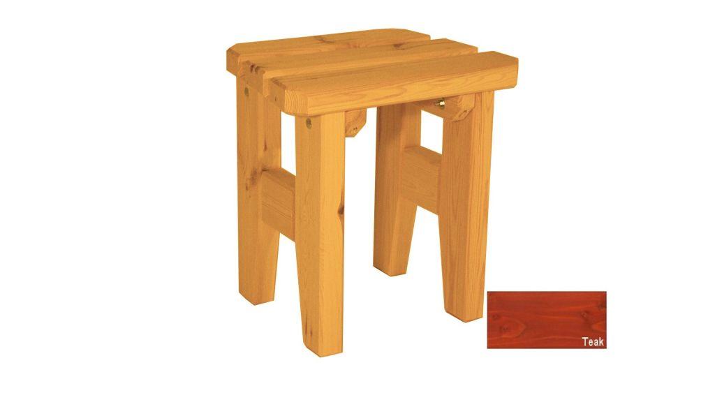 Zahradní dřevěná stolička Eduard – s povrchovou úpravou – TEAK