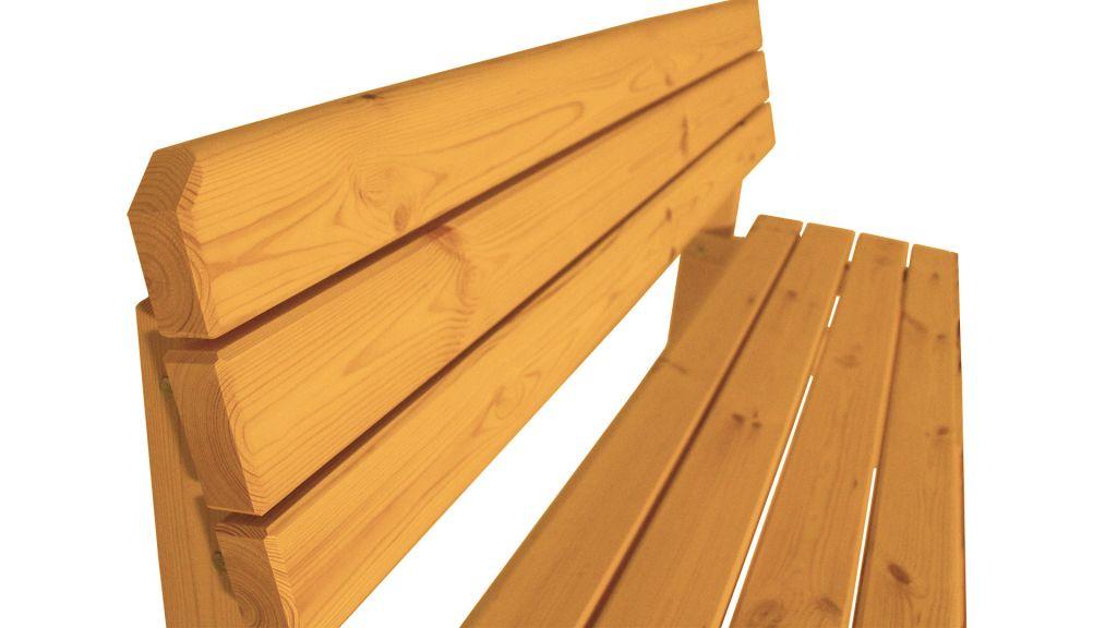 Zahradní dřevěná lavice s opěradlem Darina – s povrchovou úpravou – 150 cm – TEAK