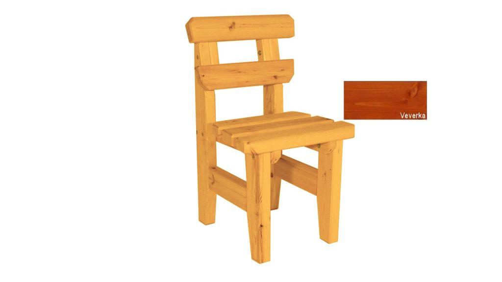 Zahradní dřevěná židle Eduard - s povrchovou úpravou - VEVERKA