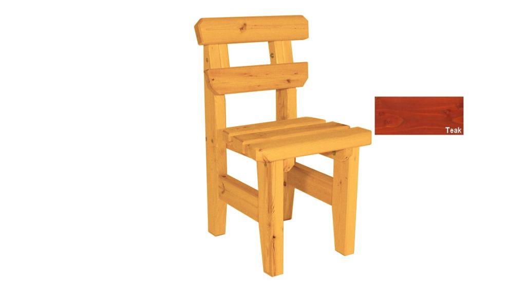 Zahradní dřevěná židle Eduard - s povrchovou úpravou - TEAK
