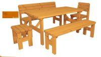 Zahradní dřevěný set Darina - s povrchovou úpravou - BOROVICE