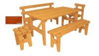 Zahradní dřevěný set z masivu Eduard - s povrchovou úpravou - 160 cm - VEVERKA