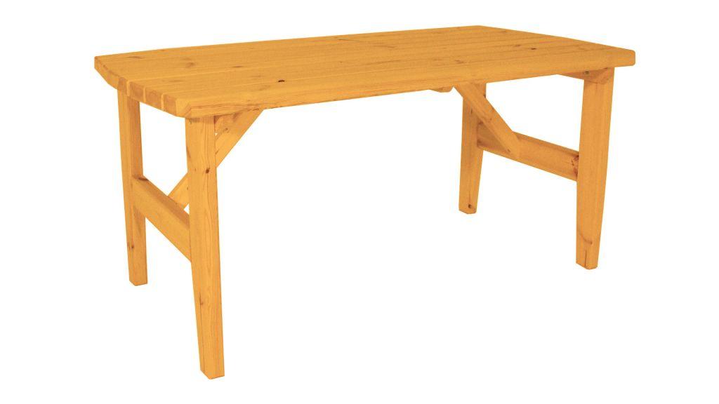 Zahradní dřevěný set z masivu Eduard – s povrchovou úpravou – 160 cm – BOROVICE