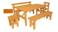 Zahradní dřevěný set z masivu Eduard - s povrchovou úpravou - 160 cm - BOROVICE