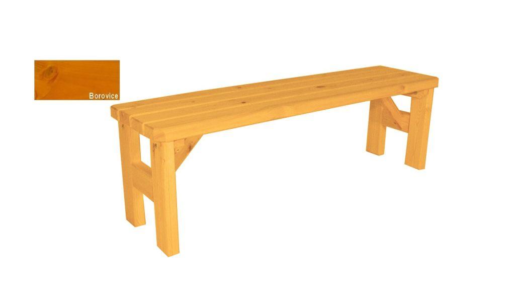 Gaboni Darina 63324 Zahradní dřevěná lavice bez opěradla - s povrchovou úpravou - 150 cm - BOR