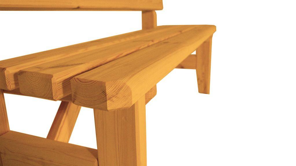 Zahradní dřevěná lavice Eduard – s povrchovou úpravou – 150 cm – VEVERKA