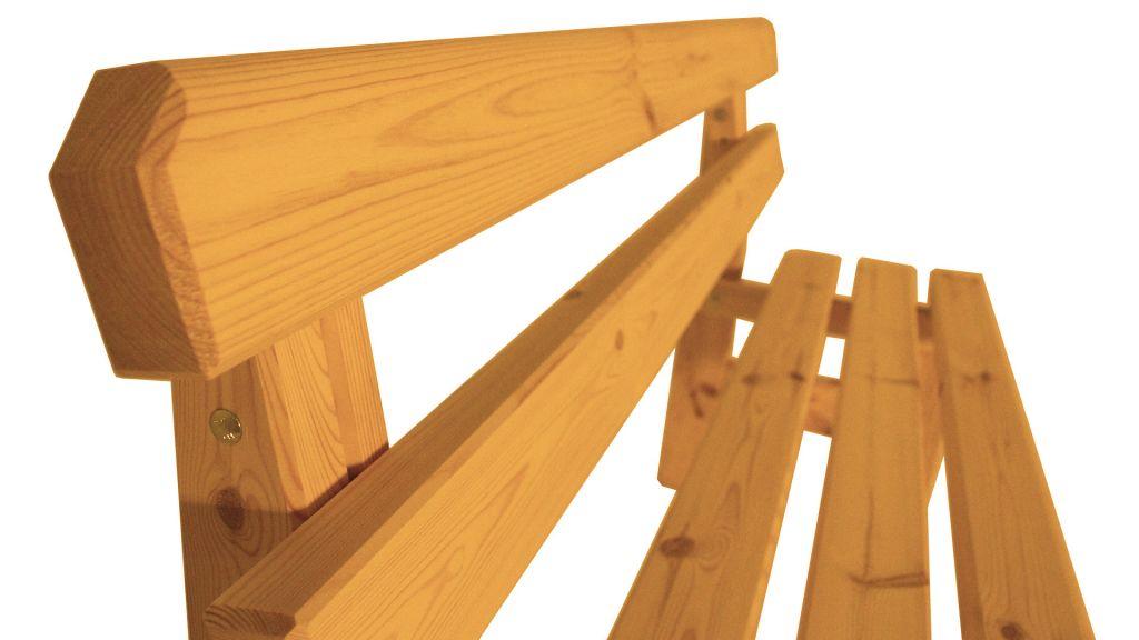 Zahradní dřevěná lavice Eduard – s povrchovou úpravou – 150 cm – BOROVICE