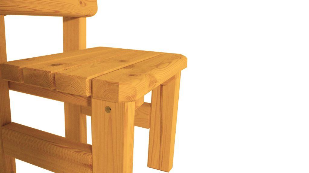 Zahradní dřevěná židle Darina – s povrchovou úpravou – VEVERKA