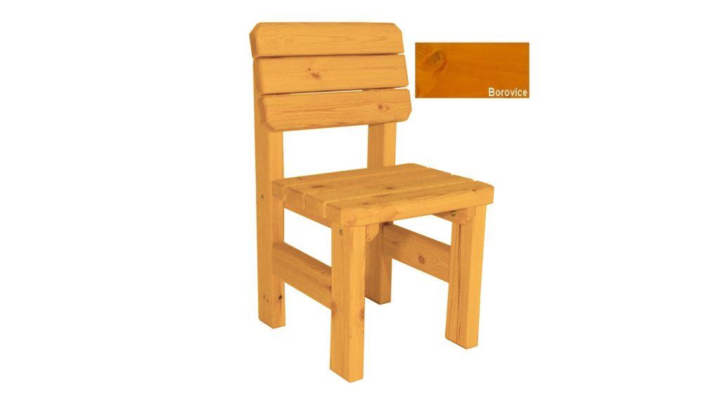 Zahradní dřevěná židle Darina - s povrchovou úpravou - BOROVICE